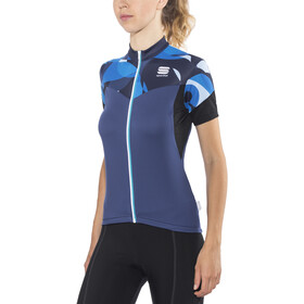 Sportful Primavera Maillot de cyclisme Femme, blue twilight/electric blue